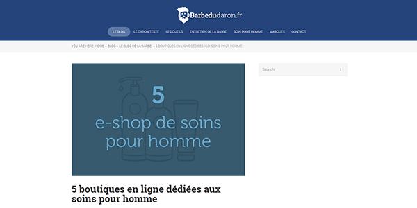 5 boutiques en ligne dédiées aux soins pour homme