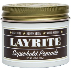 Cire pour cheveux Superhold Pomade Layrite