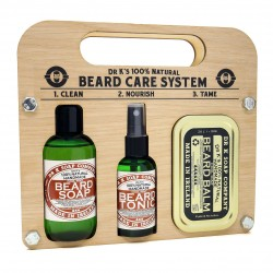 "Kit "" Beard  Care System""  Fresh lime Dr K Soap Company"