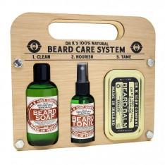 "Kit "" Beard  Care System""  Fresh lime Dr K Soap Company"