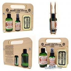 "Kit "" Beard  Care System""  Cool Mint Dr K Soap Company"