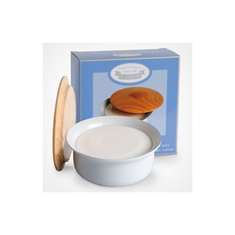 Bol à savon avec couvercle en porcelaine Plisson