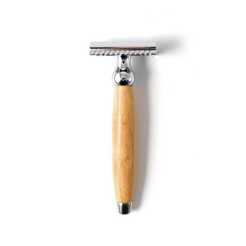 Rasoir de sécurité bois de Merisier Gentleman Barbier