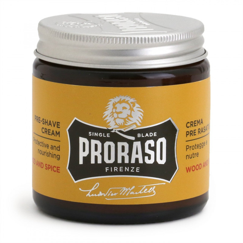 "Crème avant rasage ""Wood and Spice "" - Proraso"
