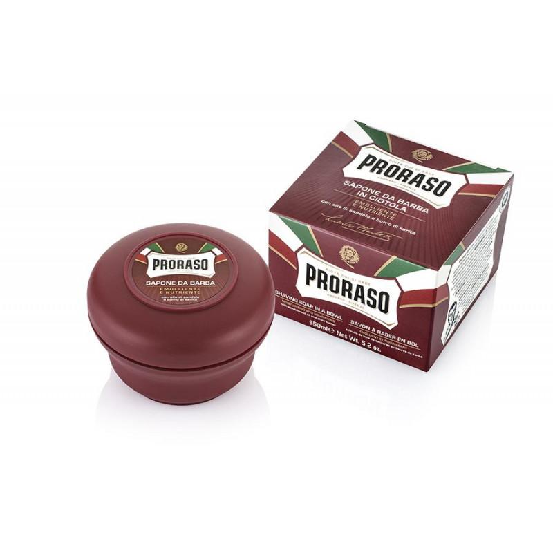 Savon à raser en pot Proraso rouge