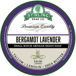 Savon de rasage Bergamot Lavender Stirling Soap Company