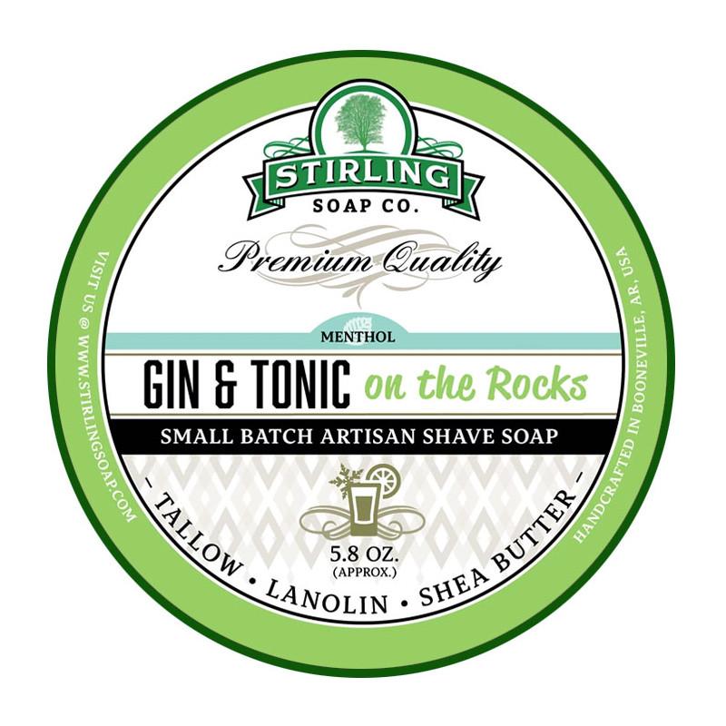 Savon de rasage Gin & Tonic on the Rocks Stirling Soap Company
