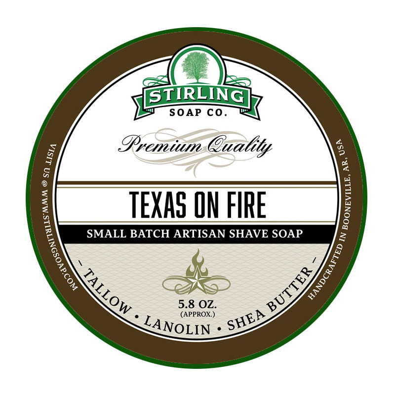 Savon de rasage Texas on Fire Stirling Soap Company