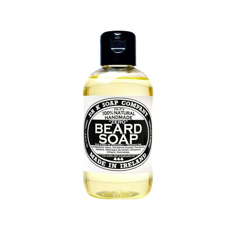 """Shampoing """"Zero"""" pour la Barbe Dr K Soap sans parfum"""