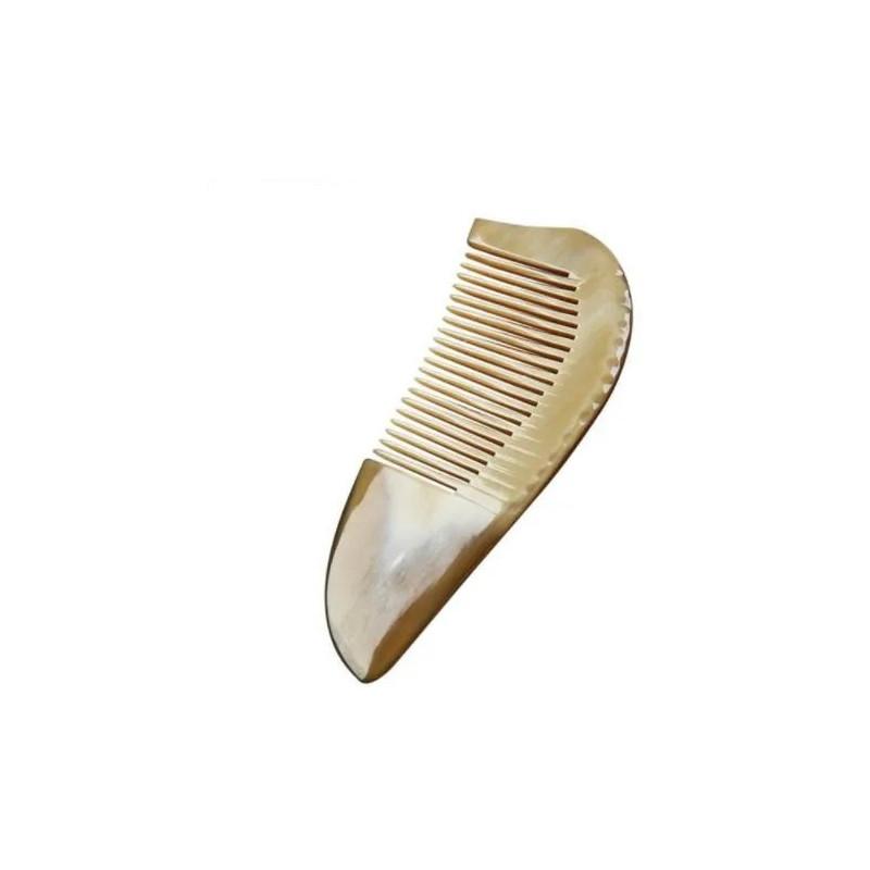 Peigne de poche Barbe Pogonotomie en corne blonde