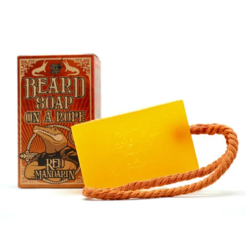 "Beard Soap on a rope ""N°2 Red Mandarin"" HEY JOE"