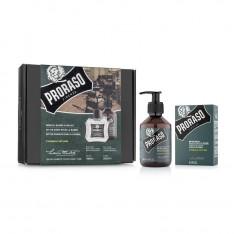 "Coffret Duo shampoing, baume à barbe ""Cypress & Vetyvier"" Proraso"