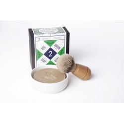 Savon à barbe N°2 avec bol en porcelaine Le Baigneur