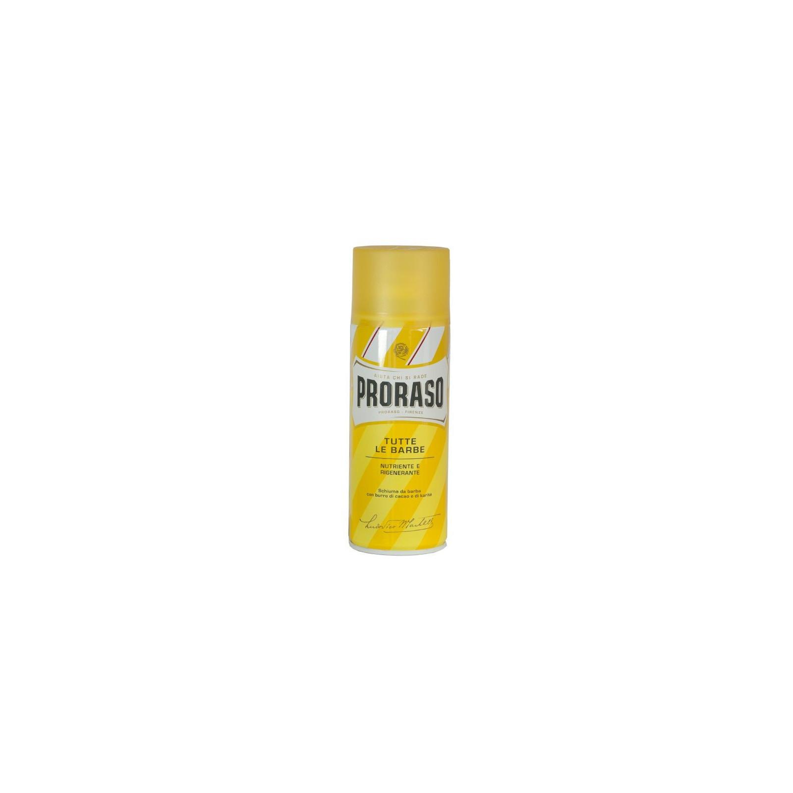 Grande Mousse de rasage Proraso jaune