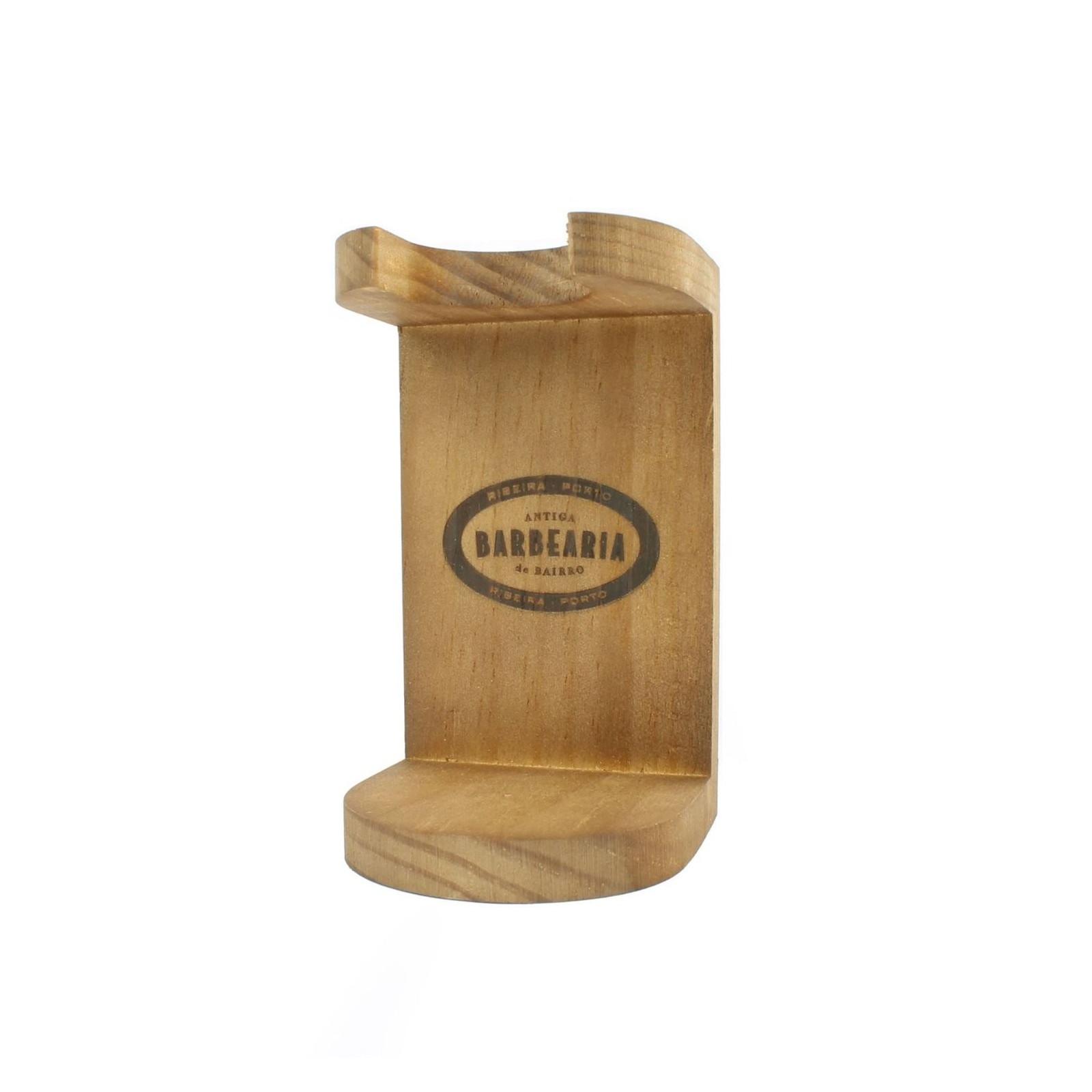 Support pour blaireau en bois Antiga Barbearia de Bairro