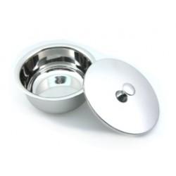 Grand bol à savon en acier avec couvercle Golddachs