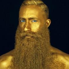 "Huile à barbe ""The Million Dollar Beard Oil"" Capt. Fawcett's sign. Jimmy Niggles"