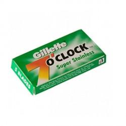 "Lames Gillette ""7 O'Clock"" Super Stainless par 5"