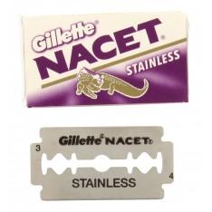 """Lames Gillette """"Nacet"""" Stainless par 5"""