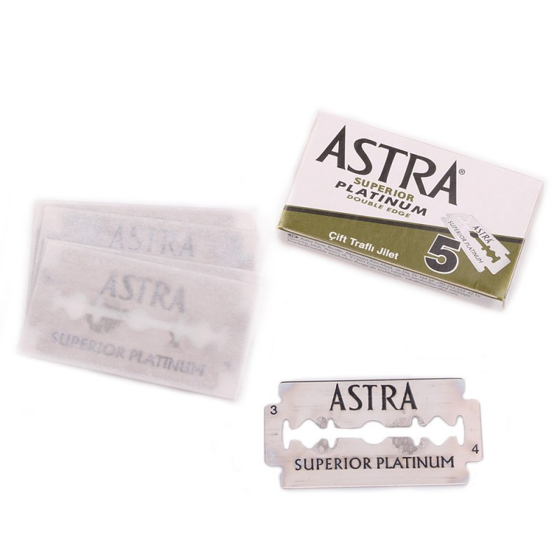"""Lames Astra """"Superior Platinum"""" par 5"""