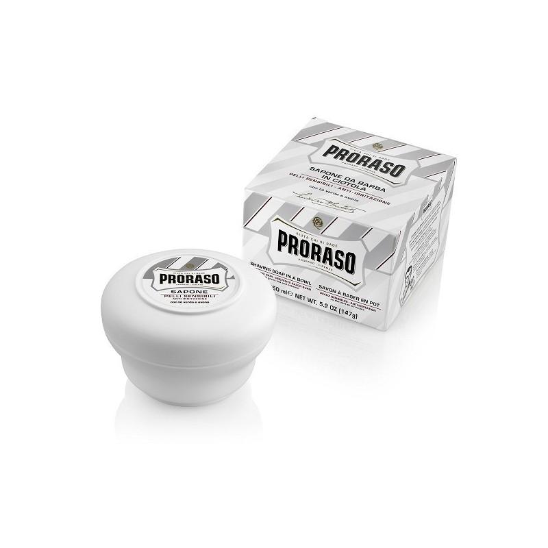 Savon à raser en pot Proraso blanc