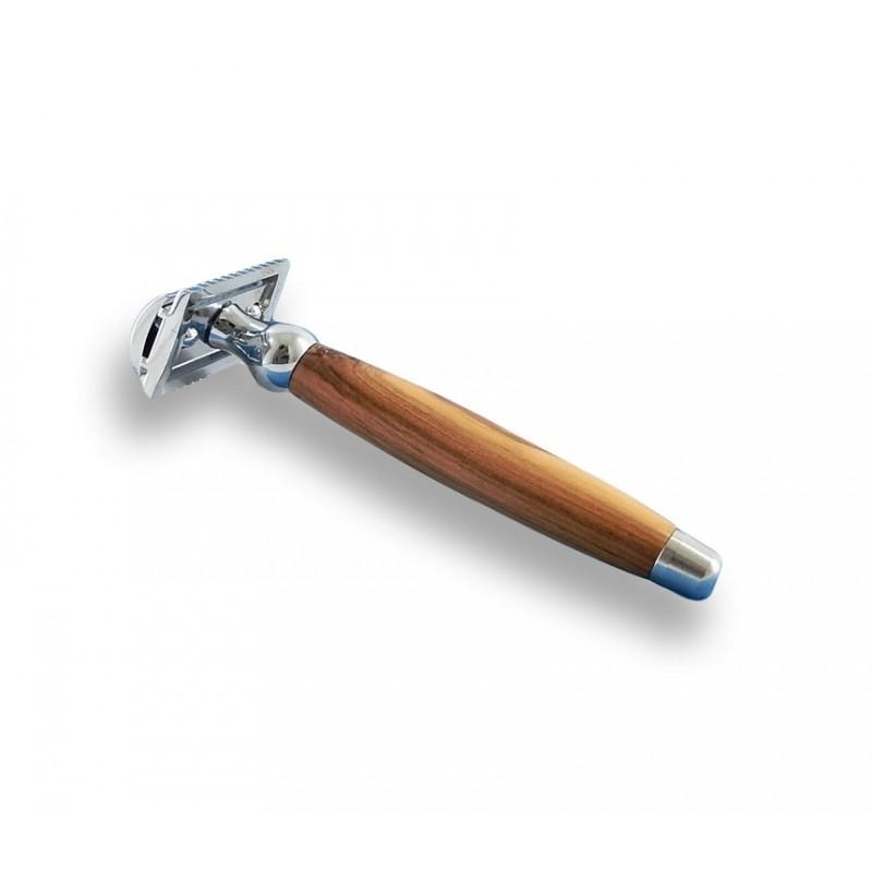 Rasoir de sécurité bois d'olivier Gentleman Barbier