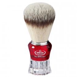Blaireau Omega Hi-Brush rouge transparent 40652