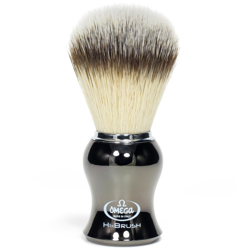 Blaireau Omega Hi-Brush gunmetal 46276