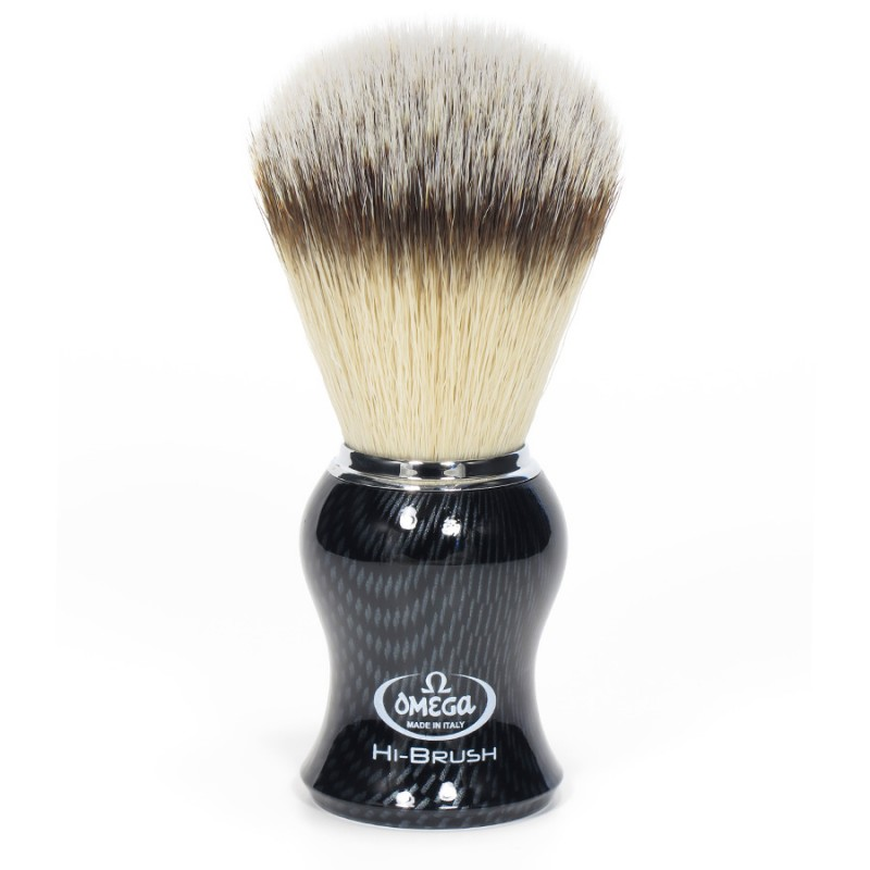 Blaireau Omega Hi-Brush carbone 46650