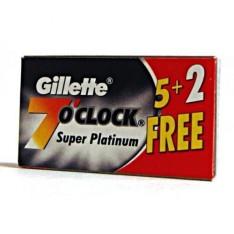 """Lames Gillette """"7 O'Clock"""" Super Platinium par 5+2"""