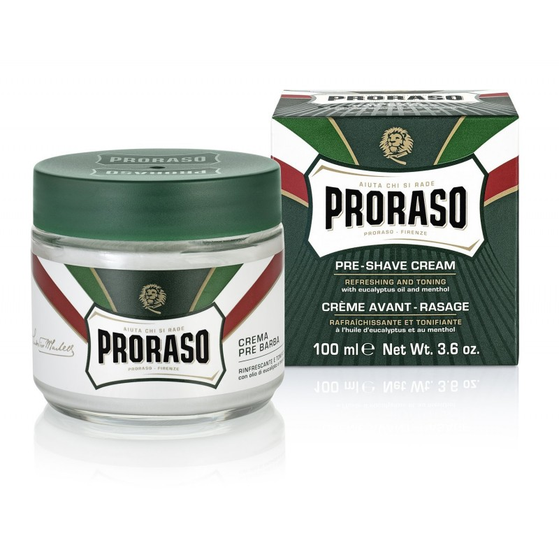 Crème avant rasage Proraso verte