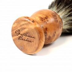 Blaireau Gentleman Barbier en bois de thuya