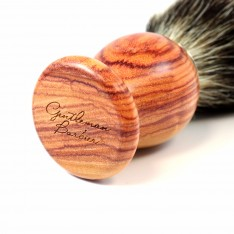 Blaireau Gentleman Barbier en bois de Rose