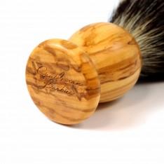 Blaireau Gentleman Barbier en bois d'olivier