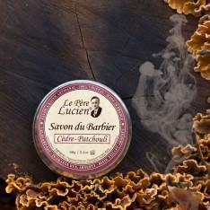 Petit Savon à barbe Père Lucien Cèdre/Patchouli