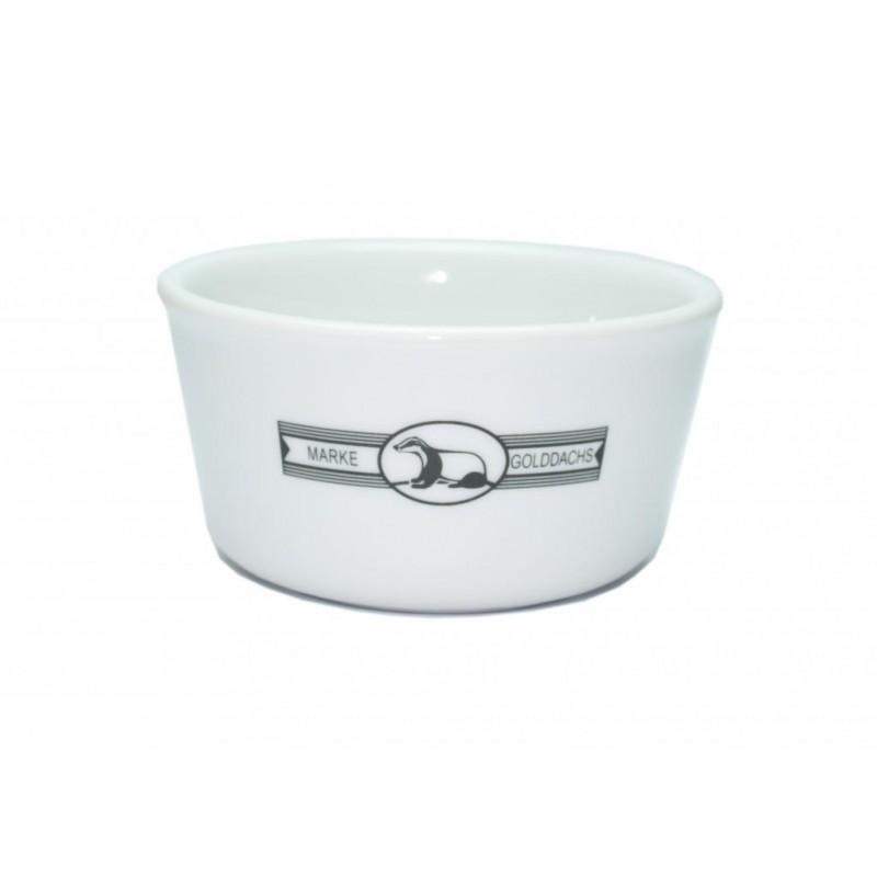 Bol à savon Golddachs en porcelaine blanche