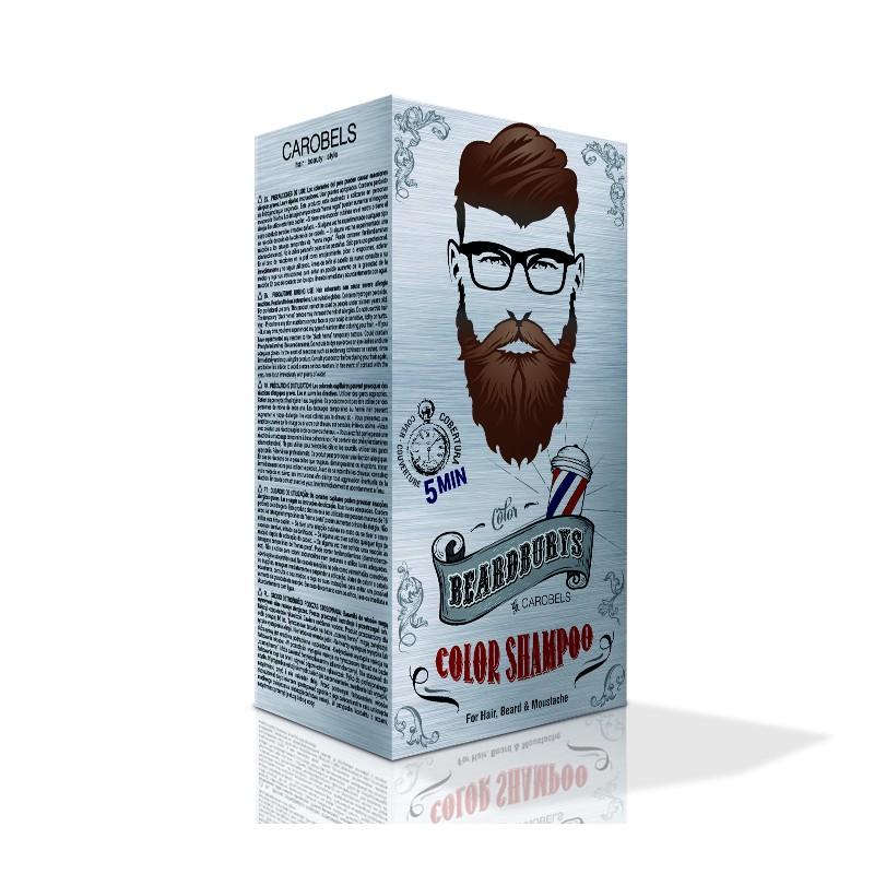 Coloration Brun foncé pour barbe, cheveux, moustaches, Beardburys