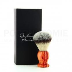 Blaireau Gentleman Barbier en bois de Rose et poils synthétiques