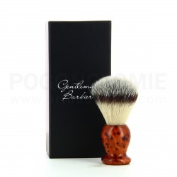 Blaireau Gentleman Barbier en bois de Thuya et poils synthétiques