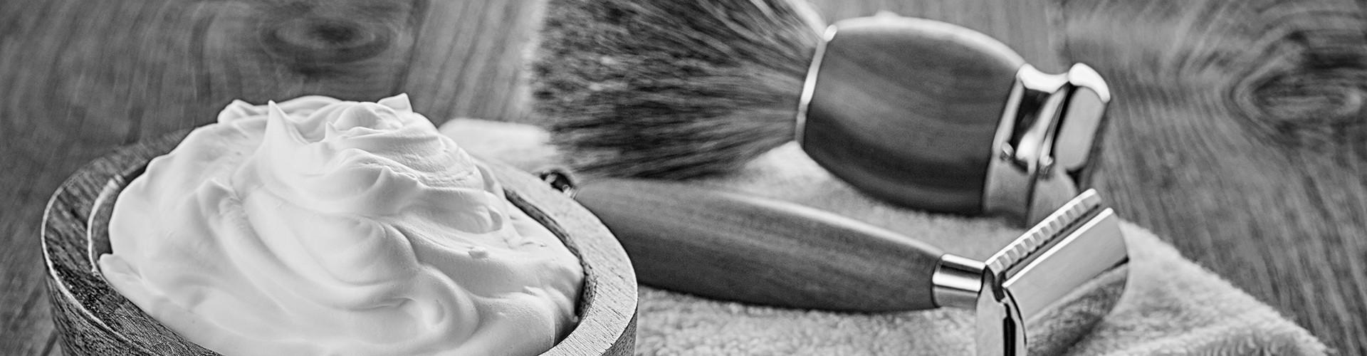 Blaireau de rasage toupet naturels