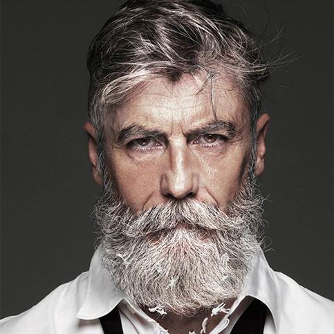 Philippe dumas mannequin barbu français