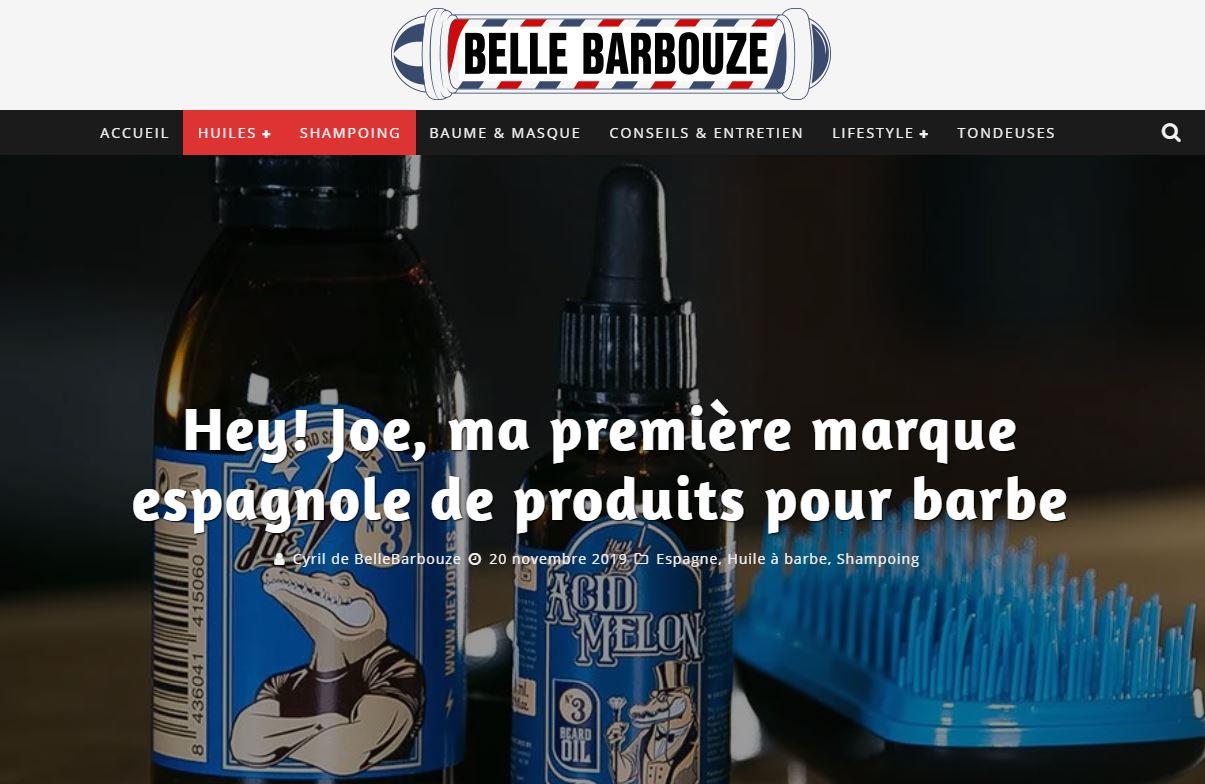 Article de blog test produits Hey Joe - Art du Barbier