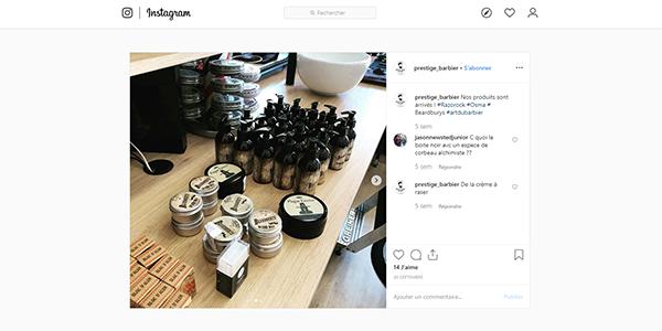 Post Instagram produits Razorock, Osma et Beardburys sur Art du Barbier