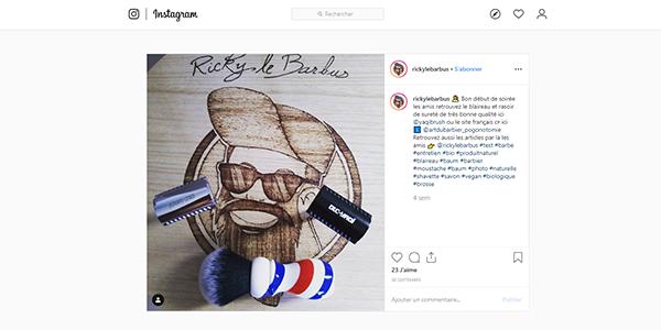 Post Insta produits Yaqi sur Art du Barbier