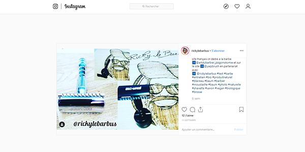 Posts Instagram rasoirs et blaireaux Yaqi sur Art du Barbier
