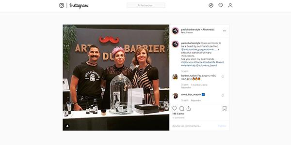 Post Instagram Solomon's Beard et Art du Barbier au Mondial de la Coiffure et de la Beauté