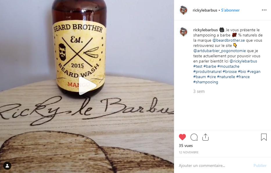 Vidéo Insta produits Beard Brother